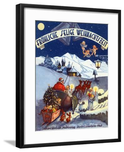 Happy Blessed Christmas Time-P^L^-Framed Art Print