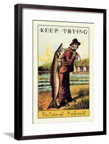 Keep Trying-Wilbur Pierce-Framed Art Print
