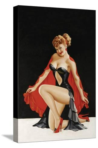 Magazine Cover; Little Red Cape-Peter Driben-Stretched Canvas Print