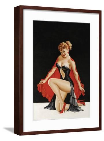 Magazine Cover; Little Red Cape-Peter Driben-Framed Art Print