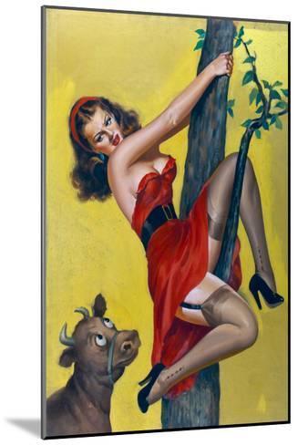 Moo; Up a Tree-Peter Driben-Mounted Art Print