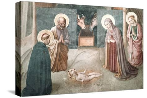 Birth of Christ-Fra Angelico-Stretched Canvas Print