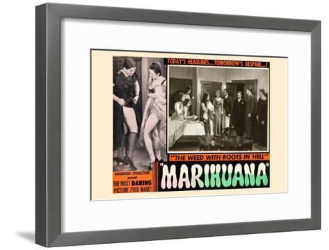 Marihuana: the Weed with Roots in Hell--Framed Art Print