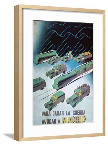 To Win the War, Help Madrid- Pedrero-Framed Art Print