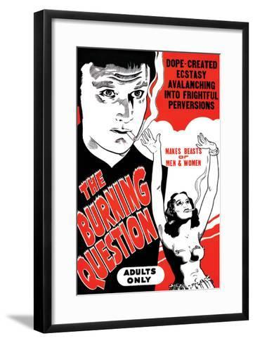 The Bruning Question--Framed Art Print