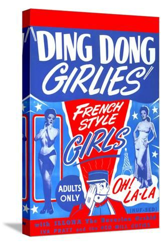 Ding Dong Girlies--Stretched Canvas Print