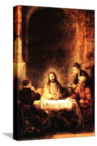 Christ in Emmaus-Rembrandt van Rijn-Stretched Canvas Print