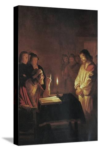 Christ in Front of the High Priest-Gerrit van Honthorst-Stretched Canvas Print