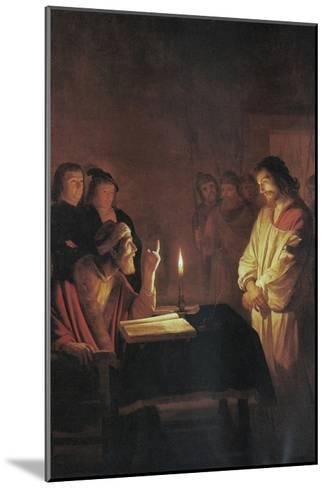 Christ in Front of the High Priest-Gerrit van Honthorst-Mounted Art Print