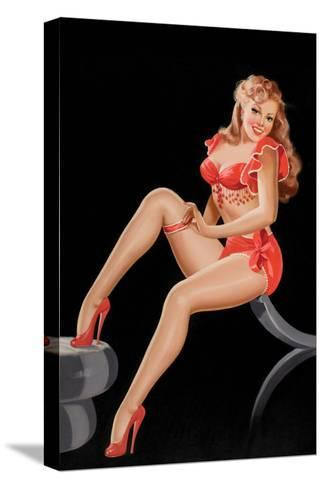 Eyeful Magazine: Pinup in Red-Peter Driben-Stretched Canvas Print