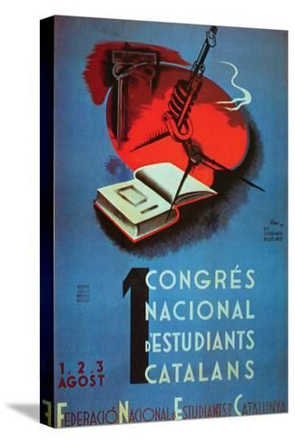 1st National Congress of Catalan Students- Student Federation of Catalonia-Stretched Canvas Print
