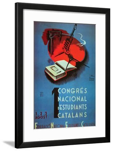 1st National Congress of Catalan Students- Student Federation of Catalonia-Framed Art Print