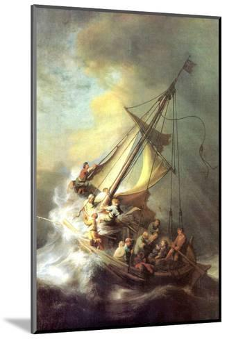 Christ in the Storm on the Lake of Galilea-Rembrandt van Rijn-Mounted Art Print