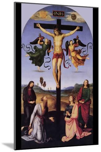 Christ on the Cross-Raphael-Mounted Art Print