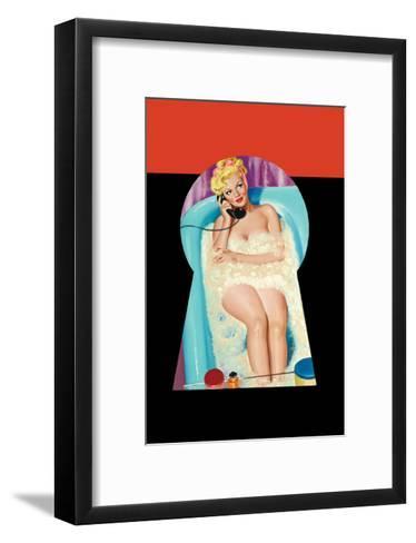 Whisper Magazine; Bubble Bath-Peter Driben-Framed Art Print