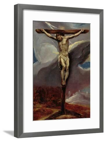 Christ at the Cross-El Greco-Framed Art Print