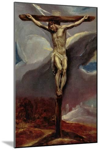 Christ at the Cross-El Greco-Mounted Art Print
