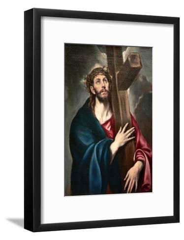 Christ Carrying the Cross by Greco-El Greco-Framed Art Print