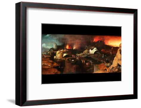 Christ Descent into Hell-Hieronymus Bosch-Framed Art Print