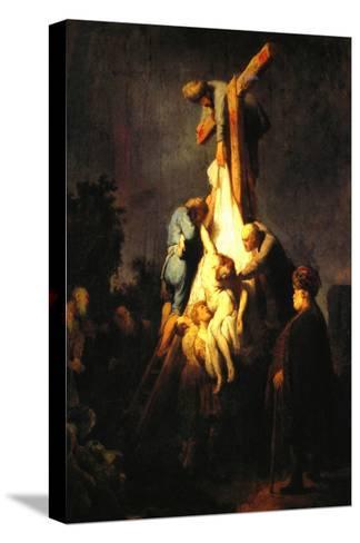 Crucifixion-Rembrandt van Rijn-Stretched Canvas Print