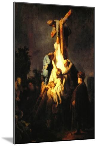 Crucifixion-Rembrandt van Rijn-Mounted Art Print