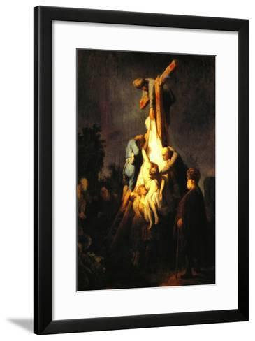 Crucifixion-Rembrandt van Rijn-Framed Art Print