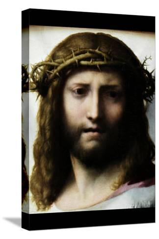 Head of Christ-Antonio Allegri Da Correggio-Stretched Canvas Print
