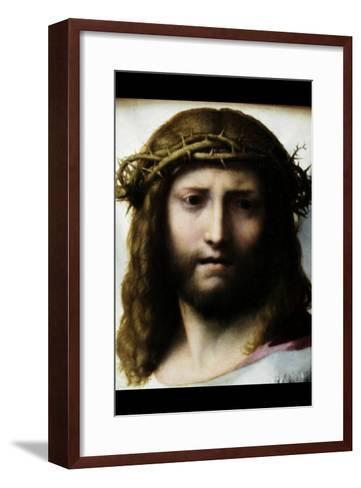 Head of Christ-Antonio Allegri Da Correggio-Framed Art Print