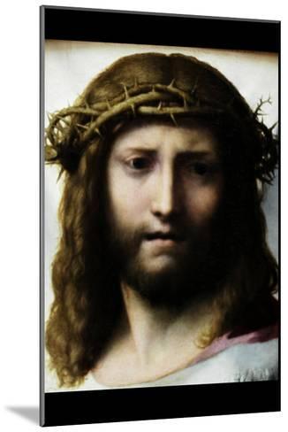 Head of Christ-Antonio Allegri Da Correggio-Mounted Art Print