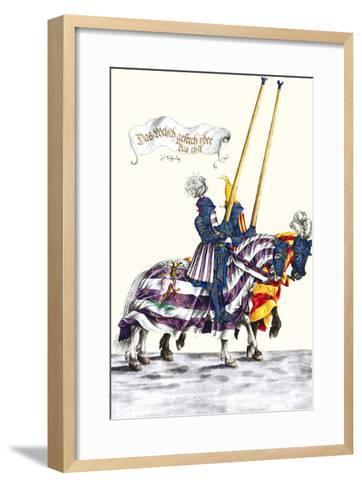 German Knights in Horseback in Procession-H. Burkmair-Framed Art Print