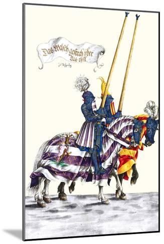 German Knights in Horseback in Procession-H. Burkmair-Mounted Art Print