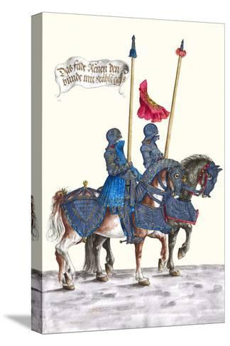 German Knights in Horseback in Procession-H. Burkmair-Stretched Canvas Print
