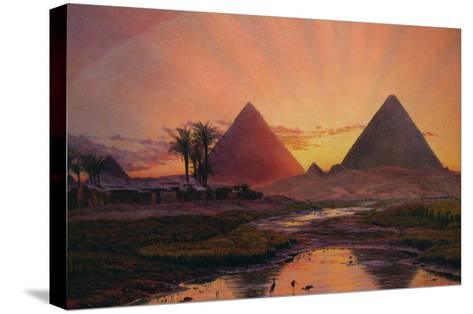 Pyramids at Gizeh-Thomas Seddon-Stretched Canvas Print