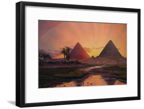 Pyramids at Gizeh-Thomas Seddon-Framed Art Print