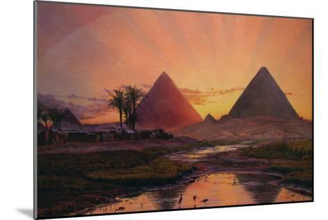Pyramids at Gizeh-Thomas Seddon-Mounted Art Print