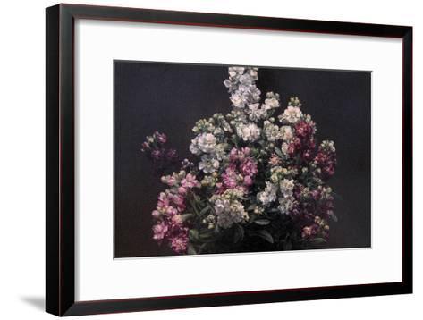 White and Purple Stock-Henri Fantin-Latour-Framed Art Print
