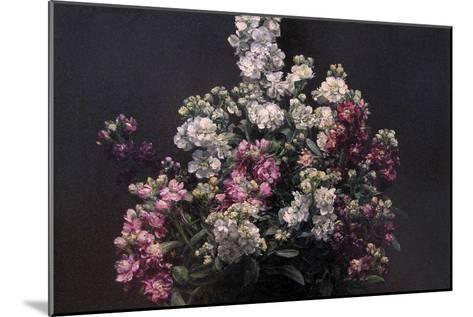White and Purple Stock-Henri Fantin-Latour-Mounted Art Print