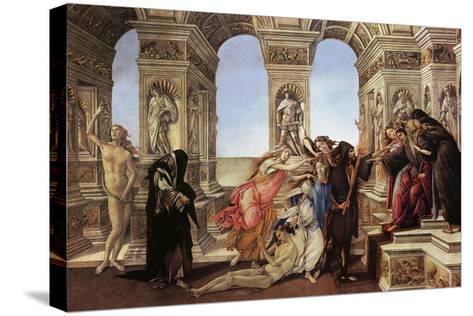 Calumny of Appeles-Sandro Botticelli-Stretched Canvas Print