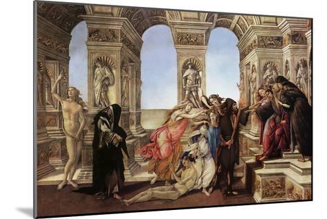 Calumny of Appeles-Sandro Botticelli-Mounted Art Print