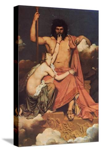 Jupiter and Thetis-Jean-Auguste-Dominique Ingres-Stretched Canvas Print