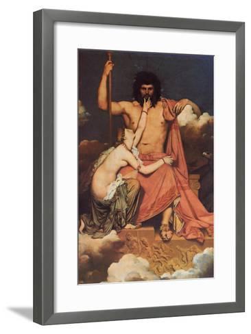 Jupiter and Thetis-Jean-Auguste-Dominique Ingres-Framed Art Print