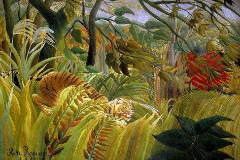 Surprise-Henri Rousseau-Stretched Canvas Print
