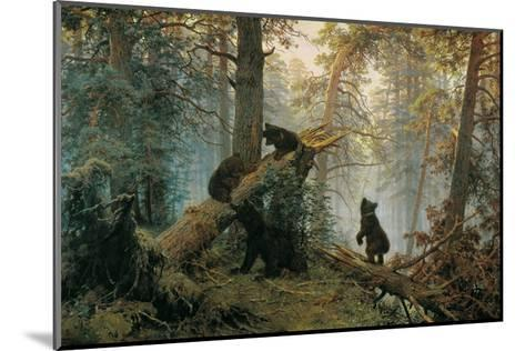 Bears in the Forest Morning-Ivan Ivanovitch Shishkin-Mounted Art Print
