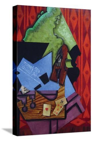 Violin and Playing Cards-Juan Gris-Stretched Canvas Print