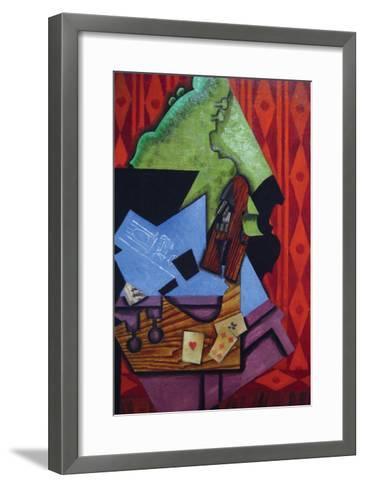 Violin and Playing Cards-Juan Gris-Framed Art Print