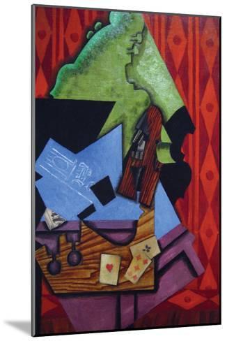 Violin and Playing Cards-Juan Gris-Mounted Art Print