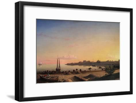 Stage Fort across Gloucester Harbor-Fitz Henry Lane-Framed Art Print