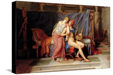 Courtship of Paris and Helen-Jacques-Louis David-Stretched Canvas Print