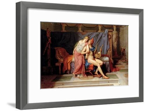 Courtship of Paris and Helen-Jacques-Louis David-Framed Art Print