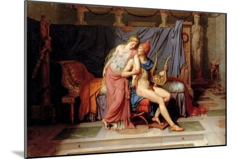 Courtship of Paris and Helen-Jacques-Louis David-Mounted Art Print